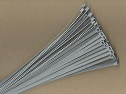 """100 14"""" Inch Long 50# Pound Gray Grey Nylon Cable Zip Ties T"""