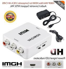1080P Mini HD Converter Box HDMI to AV RCA CVBS Composite Vi