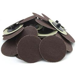 "50 PC 120 GRIT 2"" INCH TYPE R ROLL LOCK DISCS PADS SANDING R"