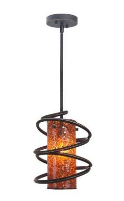 Woodbridge Lighting 12523BLK-M10AMB Loop 1-Light Mini-Pendan