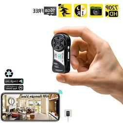 WISEUP 16GB 720P HD Mini WiFi Pocket Camera Portable Video R