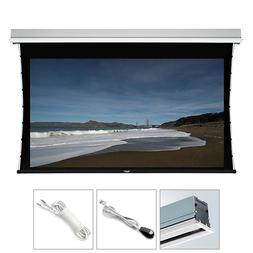 """150"""" Motorized Projector Screen Ceiling Recessed White Tensi"""