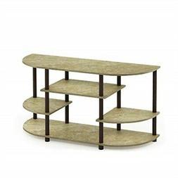 Furinno 15116BRM/BR Jaya Simple Design Corner TV Stand Marbl