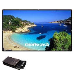 Excelvan 150 Inch 16:9 Projector Screen High Contrast Collap