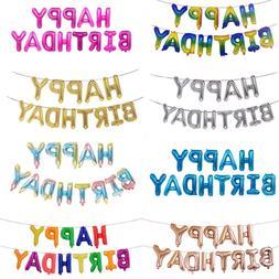 16 <font><b>Inch</b></font> Letters HAPPY BIRTHDAY Foil Ball