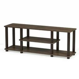 Furinno 18027WN/BR Turn-S Entertainment TV Stand with Square