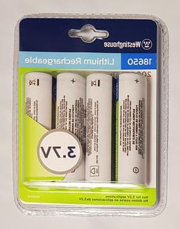 Westinghouse 18650 4-Pack 3.7V 2000mAh Lithium Ion Rechargea