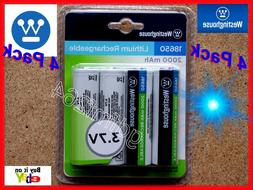 Westinghouse 18650 Lithium Rechargeable 4 Battery Batteries