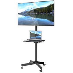 1homefurnit Mobile TV Cart Floor Stand Mount Home Display Tr