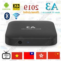 2019 Newest A3 TV BOX Well as HTV5  Chinese/HK/TW Live TV/Mo