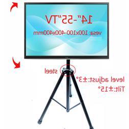 """2019 new Universal 14""""-55"""" height adjustable 50kg tilt LCD t"""