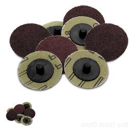 50 Pieces -2 inch 24 Grit Roll Lock Sanding/Grinding Discs -