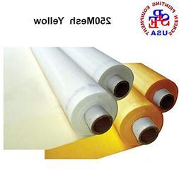3 Yards 250 Mesh 50Inches Width Silk Screen Printing yellow)