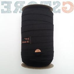 "3/4"" inch WHITE/BLACK knit elastic band  5, 12, 50 yards"
