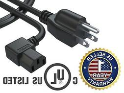 3Ft 3Prong AC Power Cord for Dell Panasonic Insignia Sharp P