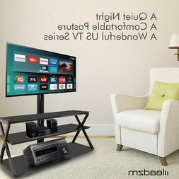 3-in-1 Floor TV Stand Swivel Mount for 32 42 46 47 50 55 60