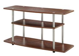 3 Tier Wide TV Stand, Cherry