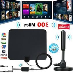 300 Mile HDTV Indoor Antenna Aerial HD Digital TV Signal Amp