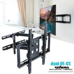 32-70 inch Articulating Dual Arm TV Wall Mount Swivel Tiltin
