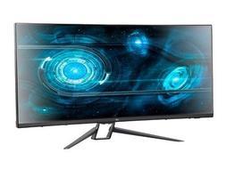 "Monoprice 35"" Zero-G Curved Ultrawide UWQHD Gaming Monitor F"