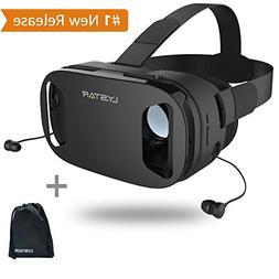 3D VR Glasses W/Headphones Virtual Reality Headset for VR Ga