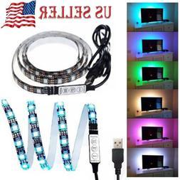 3FT/1M Computer TV Backlight 5V USB LED strip Light 5050 RBG