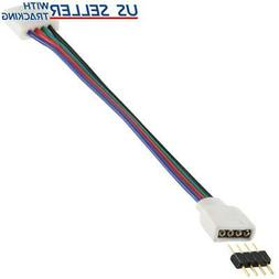4-wire Solderless Clip to 4-pin Male 6-inch Cable for RGB LE