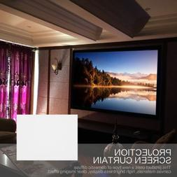 40-120 Inch 16:9 Projection Screen Curtain Non-Woven Fabric