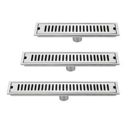 40/50/60CM Bathroom Floor Drain Long Stainless Steel Shower