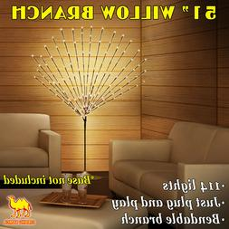 40/ 50-inch Corded Bendable Willow Branch w 96/ 144 LED t Li