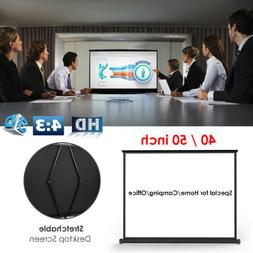 40/50 inch Portable 4:3 HD Pull Down Projector Projection Sc