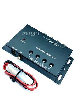 4CH RCA Video Amplifier 1 input 4 outputs Splitter Car DVD D