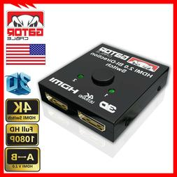 4K Bi-Direction HDMI 2.0 Cable Switch Switcher Splitter Hub