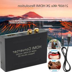 4K HDMI to HDMI & Optical SPDIF RCA Analog Audio Extractor C