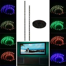 4pcs TV LED 5050 RGB Strip USB Bias Light Backlight Remote C