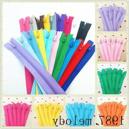 5~500pcs Nylon Coil Zippers Tailor Sewer Craft  Crafter DIY