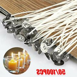 50/100PCS Candle Wicks 6 Inch Cotton Core Candle Making Supp