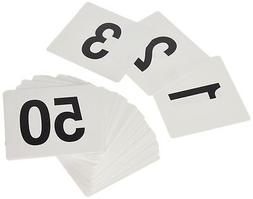 New Star 23176 1 to 50-Double Side Plastic Table Numbers, 4