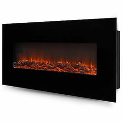 Best Choice Products 50 Electric Wall Mounted Fireplace Heat
