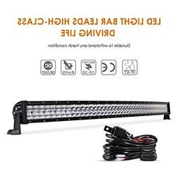 Auxbeam 50 Inch LED Light Bar 288W LED Driving Light Curved