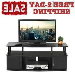 50 inch Long TV Stand Table White Modern Low Profile For Fla