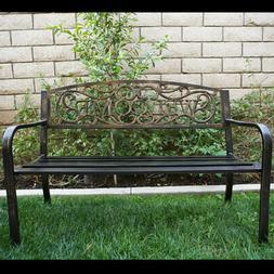 """50""""inch Outdoor Patio Bench Furniture Seat Porch Deck Garden"""
