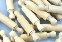 50 natural 3 inch mini rolling pins