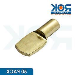 50 Pack 1/4 Inch Heavy Duty Pin Spoon Shaped Shelf Support B