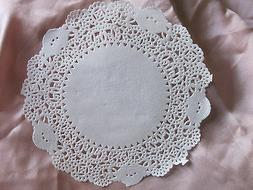 """50 PCS 4"""" 4.5"""" INCH OFF WHITE ivory ROUND PAPER LACE DOILY C"""