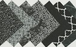 50 piece Charm Pack 5 Inch Squares black, white and gray qui