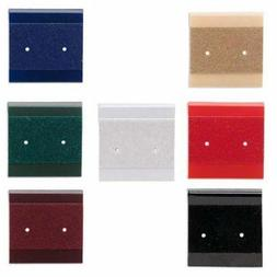 50 Small 1 Inch Square Earring Display Cards with Hanging Ta