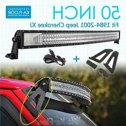 50inch 2808w cree curved led light bar