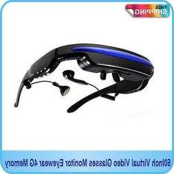 50Inch Virtual Video Glasses Monitor Eyewear Private Theater