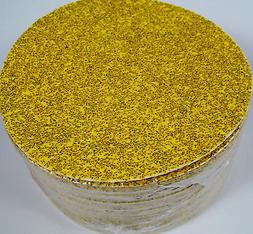 "50pc 6"" PSA STICK ON SANDPAPER DISC 36 GRIT A/O GoldLine MAD"